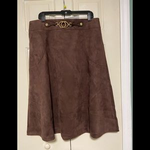 Marc New York Andrew Marc faux suede skirt